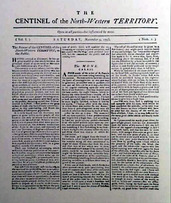 First Issue Of The Centinel Published By Pioneering Ohio Editor William Maxwell